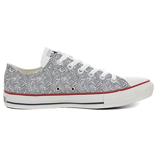 EU Schuhe Light Handwerk Star 41 Personalisierte Slim Converse Your Paisley Customized Shoes Make Schuhe Size All PxzZaqv