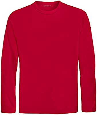 539eb7f474a DRI-EQUIP Youth Long Sleeve Moisture Wicking Athletic Shirts. Youth ...