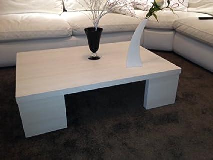 VE.CA-ITALY Tavolino Moderno Basso Salotto Moderno In Legno Bianco ...