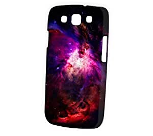 Case Fun Samsung Galaxy S3 (I9300) Case - Vogue Version - 3D Full Wrap - Purple and Red Fire Nebula