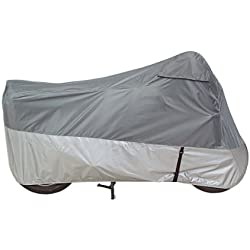 Guardian By Dowco - UltraLite Plus Indoor/Outdoor Motorcycle Cover - 3 Year Limited Warranty - Water Resistant - UV Protection - Gray - Medium [ 26035-00 ]