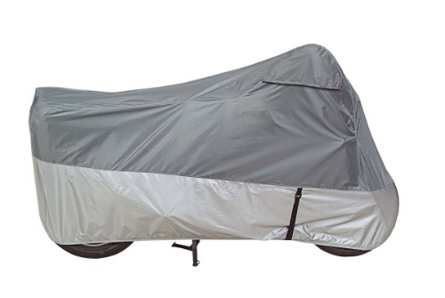 Grey Large Street Bikes - Guardian by Dowco 26036-00 UltraLite Plus Water Resistant Indoor/Outdoor Motorcycle Cover: Grey, Large