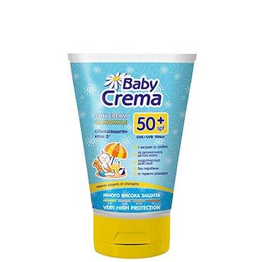 Baby Crema Crème solaire protectrice pour le corps SPF 50+ Sans Paraben 100ml Agiva