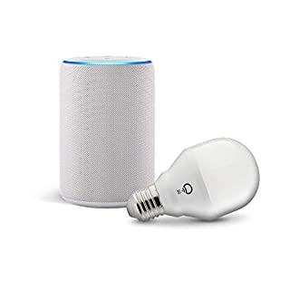 Echo (3rd Gen) Sandstone Bundle with Lifx wi-fi smart bulb