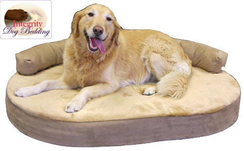 Large Orthopedic Memory Foam Joint Relief Bolster Dog Bed – Toffee, My Pet Supplies