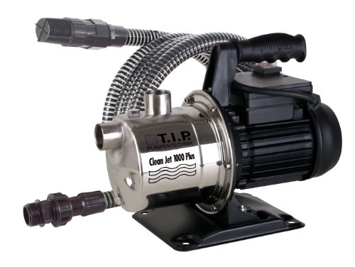 TIP-30094-Gartenpumpe-Edelstahl-CLEAN-JET-1000-Plus-mit-4m-Ansauggarnitur
