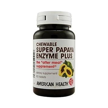 American Health Super Papaya Enzyme Plus, 90 Count: Amazon ...
