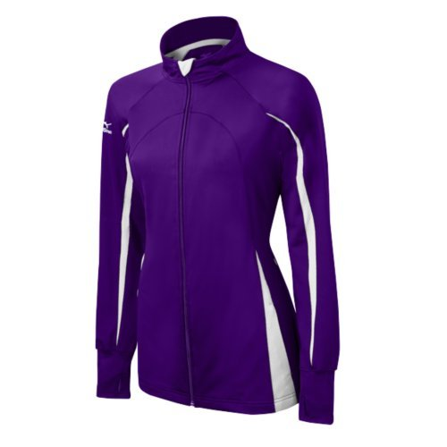 Mizuno Women's Youth Nine Collection Focus Full Zip Jacket Purple/White