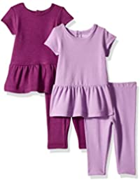 Ultimate Baby Girls Flexy Set-2 Short Sleeve Dresses with...