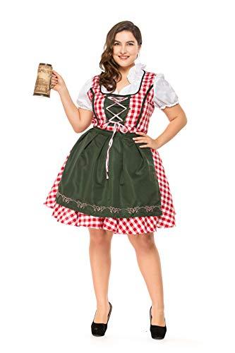 Women's Plus Size Dress Costumes for Bavarian Oktoberfest Carnival Halloween Maid -
