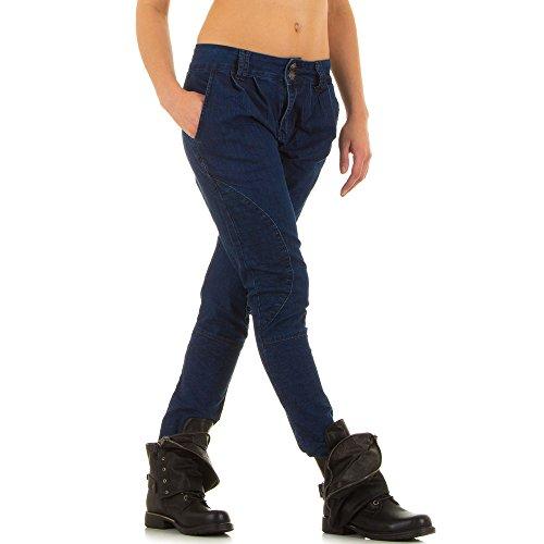 Damen Jeans, RELAXED CHINO STRETCH JEANS, KL-J-FA193, Blau, 34