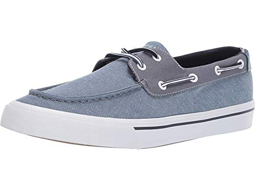 Tommy Hilfiger Men's Pharis Boat Shoe, Dark Blue Chambray, 10 M US