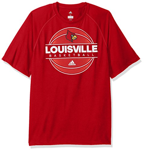 Tee S/s Basketball (NCAA Louisville Cardinals Mens 2017 On Court Climalite S/Tee2017 On Court Climalite S/Tee, Power Red, Large)