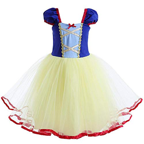 FYMNSI Baby Little Girls Princess Snow White Costume Fancy Dress up Halloween Party Wedding Birthday Tutu Dress 24 Months