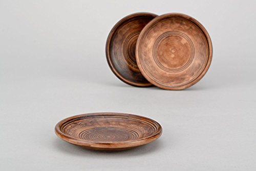 (Clay Ceramic Plate Lead-free Clay Saucer Little Dish Made Using Kilning Technique)