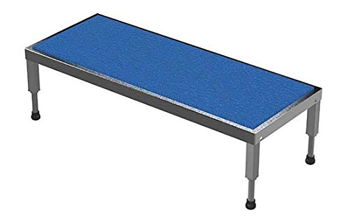 Adjustable Work Stand - Ergonomic Matting Deck - BAHT Series; Deck Size (W x L): 19'' x 48''; Service Range: 9'' to 14''; Number of Legs: 4; Capacity (LBS): 500