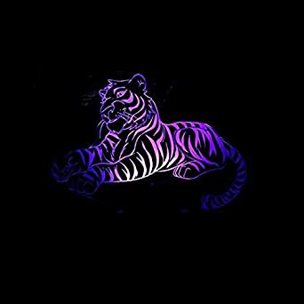 HPBN8 3D Tiger Lampe USB Power 7 Farben Amazing Optical Illusion 3D Wachsen LED  Lampe Formen