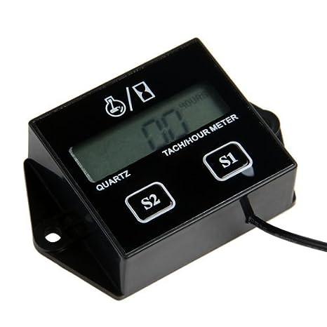Cuentarrevoluciones Electrónico con Batería Lition 12V: Amazon.es: Coche y moto