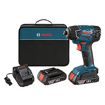 Impact Driver Bosch Drills 18-Volt Impact Driver with 2 Slim Pack 2 Ah Battery 25618-02