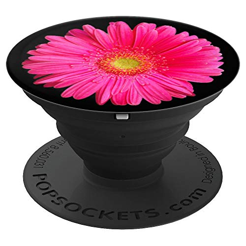 Gerber Daisy Flower Pink Fuchsia Phone Stand - PopSockets Grip and Stand for Phones and Tablets