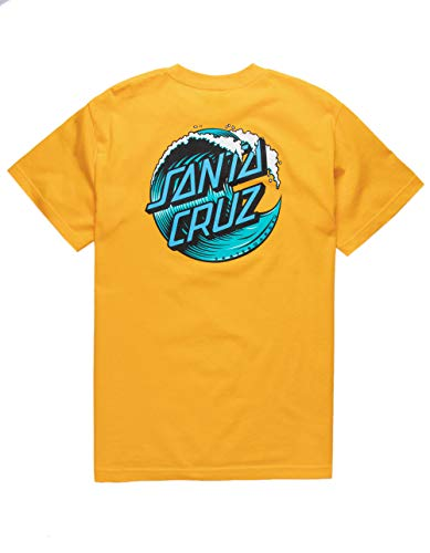Santa Cruz Wave Dot Gold T-Shirt, Gold, Small