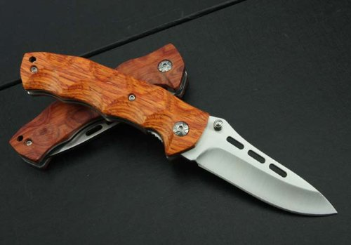(J.C.H. KT35 Rosewood Wooden Handle Pocket Folding Knife Limited Collection)