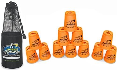 Speed Stacks Set of 12 Competition 4 Inch Cups Orange With Carrying Bag