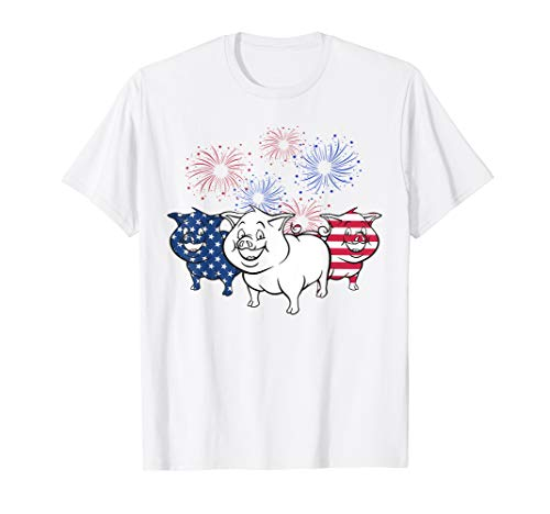 American Independence day pig farmer firework t shirt -