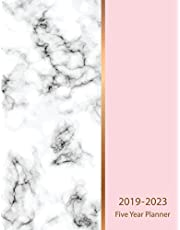 2019-2023 Five Year Planner: Marble Texture Design 60 Months Calendar Schedule Organizer Agenda Yearly Goals Monthly Task Checklist Logbook Appointment Notebook Personal Time Management Journal Home School Office