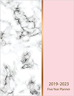 2019-2023 Five Year Planner: Marble Texture Design 60 Months ...