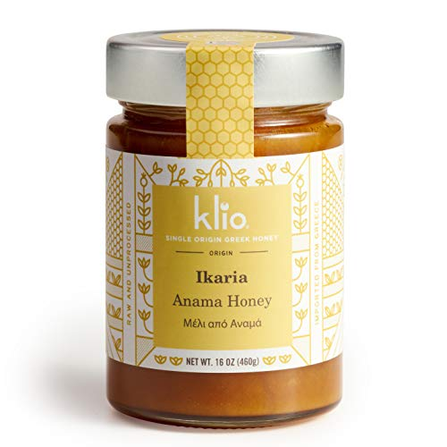 Ikaria Heather Honey 16oz Ikaria, Greece - a designated Blue Zone. Delicious. Pure, Raw, Never heated. New Packaging! (Heather Mountain)