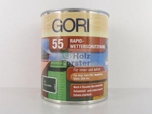 GORI 55 Rapid-Wetterschutzfarbe 2053 Silbergrau, 0,75 Liter