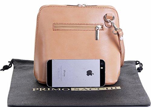 Sacchi Handbag Leather Bag Italian Small Storage Nude Bag Branded Protective Includes Genuine Primo Shoulder a d0nWcgdS