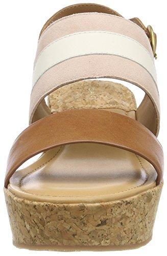 Pink tan cream Mehrfarbig Sandales silver Femme Plateforme Judith Gant xOqFHSq