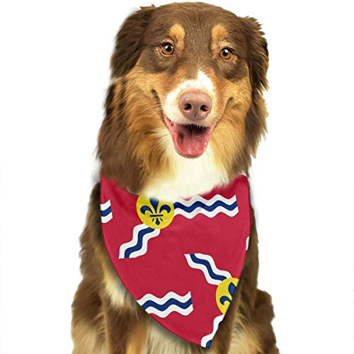 FRTSFLEE Dog Bandana St. Louis Flag Scarves Accessories Decoration for Pet Cats and Puppies