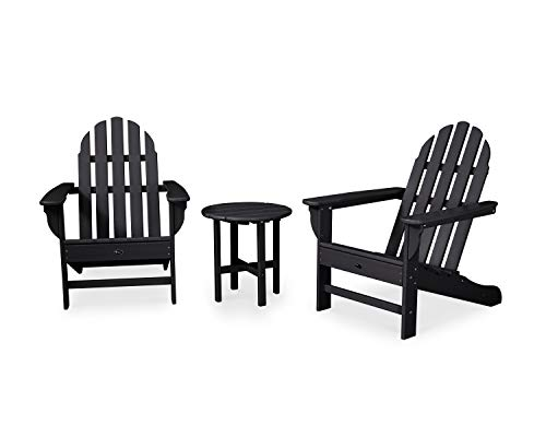 Trex Outdoor Furniture Cape Cod Adirondack Seating Set, Charcoal Black