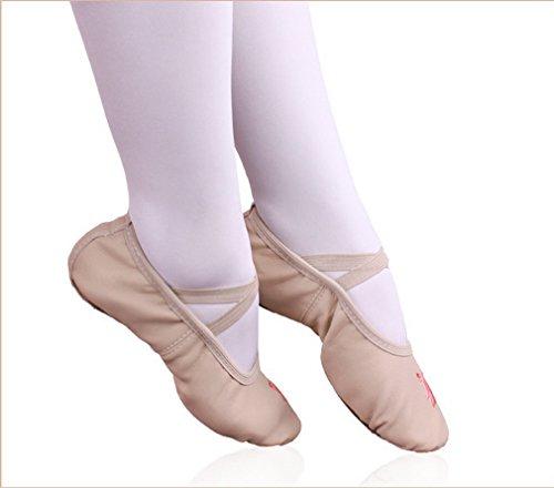ELE GENS Mädchen Damen Ballettschläppchen Ballettschuhe Tanzschuhe Ballett Trainings Schläppchen Schuhe