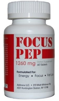 Addrena l'accent Pep sur les Stimulants de compteur de vitesse jusqu'à naturellement : étude Alternative et mieux juridique énergie suppléments pour Nootropique Brain Boosting, 1260 mg, 60 Pills