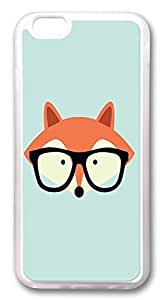 iPhone 6 Plus Cases, Cute Hipster Red Fox Custom Design TPU Case Cover for Apple iPhone 6 Plus with 5.5 inch Screen TPU Transparent