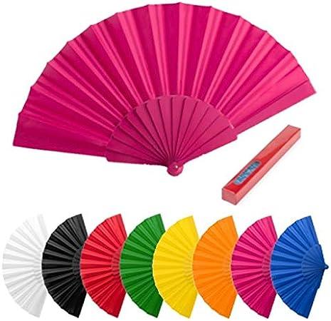 Lote de 100 Abanicos de Plástico y Tela de Colores Variados - Abanicos de PVC, Plástico, Pai Pais y Tela de Colores