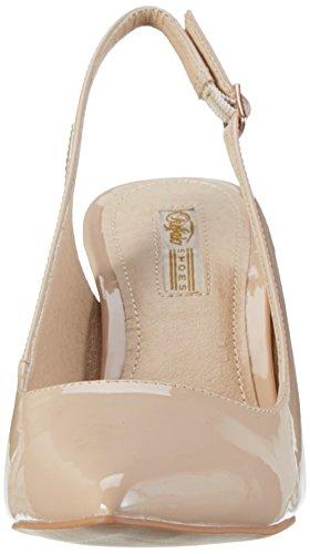 01 H733c PU a Patent Shoes T Buffalo col Scarpe P2010f Tacco 117 con Beige Donna Beige Cinturino xanRgwqgWf