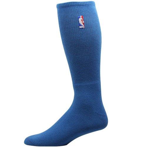 NEW! Medium Blue NBA Logoman Crew Socks - 301 (Shoe Mavericks Nba Basketball)