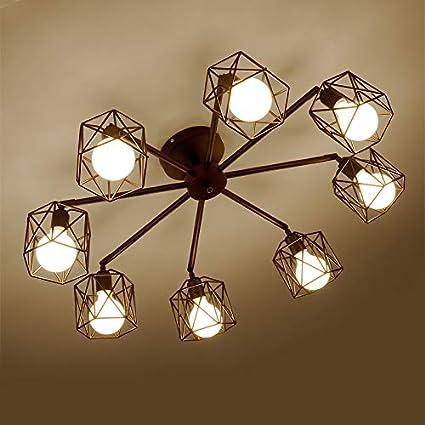 Feraz Home American Simple lámpara de Techo de Hierro ...
