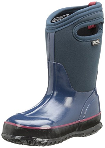 Bogs Kids Classic Solid Waterproof Winter & Rain Boot (Toddler/Little Kid/Big Kid), Navy, 7 M US Toddler by Bogs