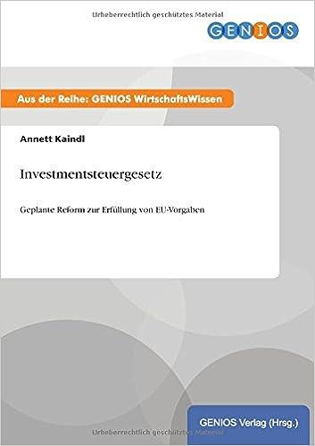 investmentsteuergesetz literature