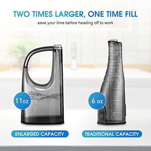 [UPGRADED] 330ML Cordless Water Flosser Teeth Cleaner, ELLESYE High Pulse Rechargeable Portable Oral Irrigator for Travel & Office Use, IPX7 Waterproof Dental Flosser for Shower with 2 Tips for Family by ELLESYE (Image #1)