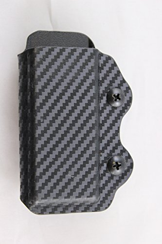 Glock Single Stack - Multi Holsters Elite Single Magazine Holster Pouch (Glock 43 Single Stack , Black Carbon Fiber)