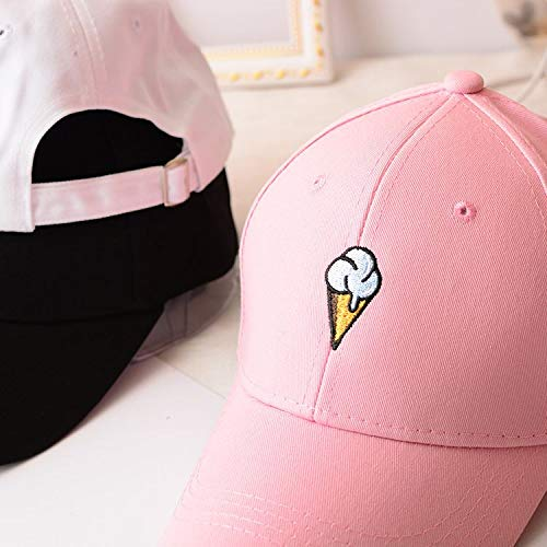 Mens Womens Couple Peaked Caps Hip Hop Curved Snapback Fresh Cute Icecream Baseball Caps Adjustable Cotton Washed Hat (Pink) by Aurorax Hat (Image #6)