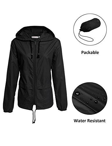 en Water Repellent Softshell Trench Coat with Hoodie Sport ()