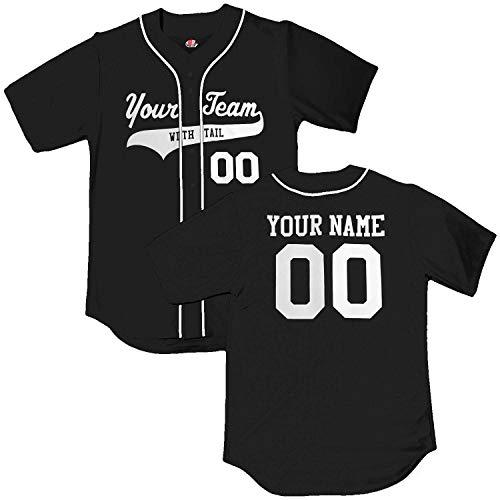 - Black White Piping Braid Trim Classic Custom Baseball Jersey | Adult 3X-Large